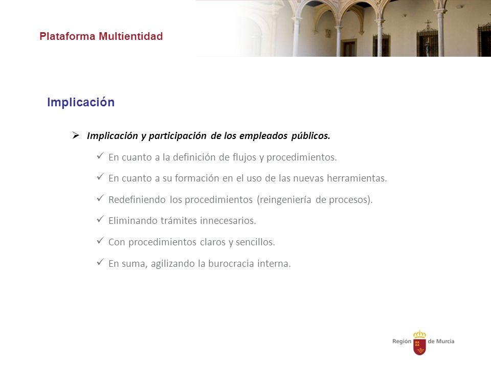 Plataforma Multientidad Implicación y participación de los empleados públicos.