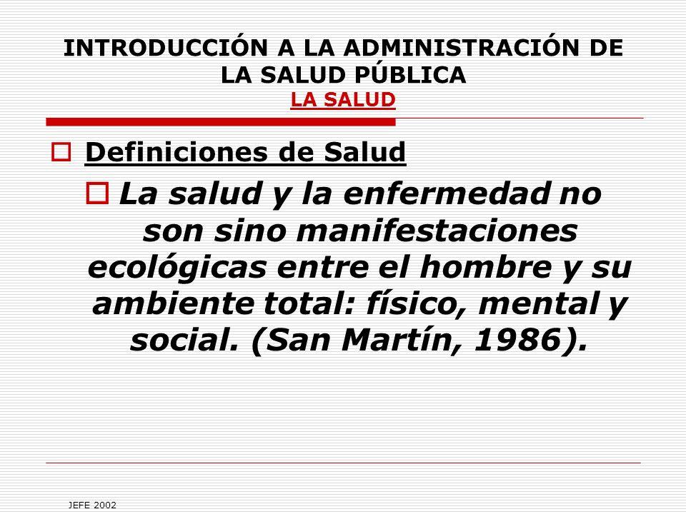 INTRODUCCIÓN A LA ADMINISTRACIÓN DE LA SALUD PÚBLICA En sí se ha definido como el compromiso de la sociedad con sus ideales de salud.