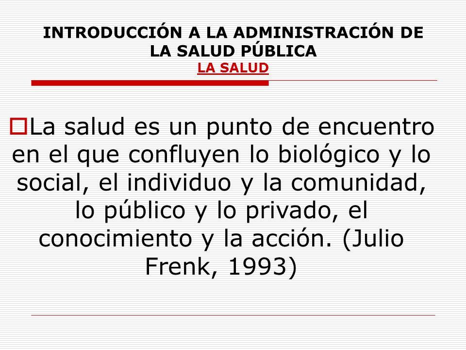 INTRODUCCIÓN A LA ADMINISTRACIÓN DE LA SALUD PÚBLICA FUNCIONES ESENCIALES DE SALUD PÚBLICA (continuación) FESP 6 Fortalecimiento de la capacidad institucional de regulación y fiscalización en salud pública.