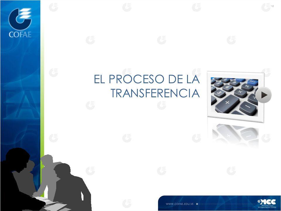 16 EL PROCESO DE LA TRANSFERENCIA
