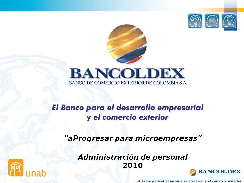 aProgresar para microempresas Administración de personal 2010
