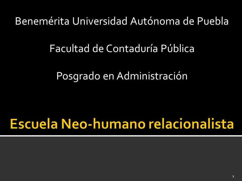 Escuela neo-humano relacionalista 22