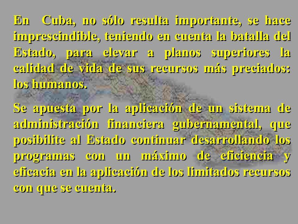 En Cuba, no sólo resulta importante, se hace imprescindible, teniendo en cuenta la batalla del Estado, para elevar a planos superiores la calidad de v