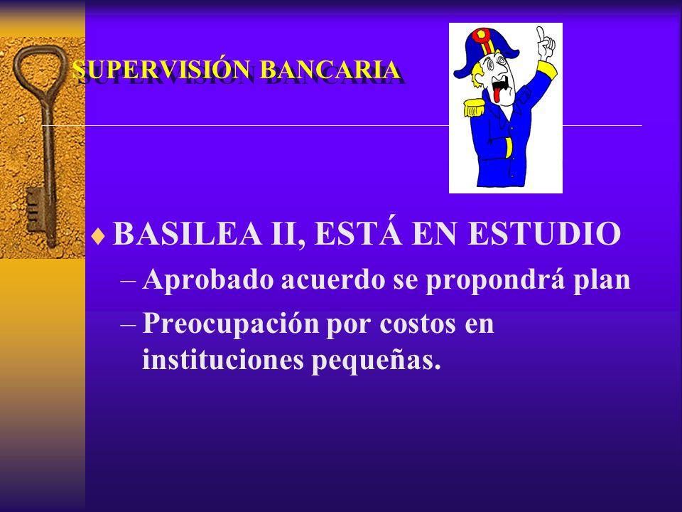 SUPERVISIÓN BANCARIA BASILEA II, ESTÁ EN ESTUDIO –Aprobado acuerdo se propondrá plan –Preocupación por costos en instituciones pequeñas.
