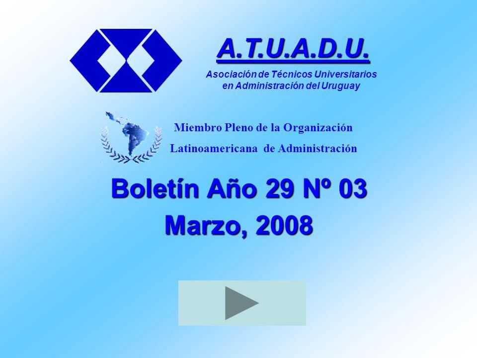 La Asociación de Técnicos Universitarios en Administración del Uruguay A.T.U.A.D.U.