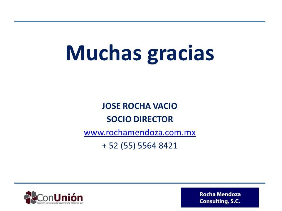 Muchas gracias JOSE ROCHA VACIO SOCIO DIRECTOR www.rochamendoza.com.mx + 52 (55) 5564 8421