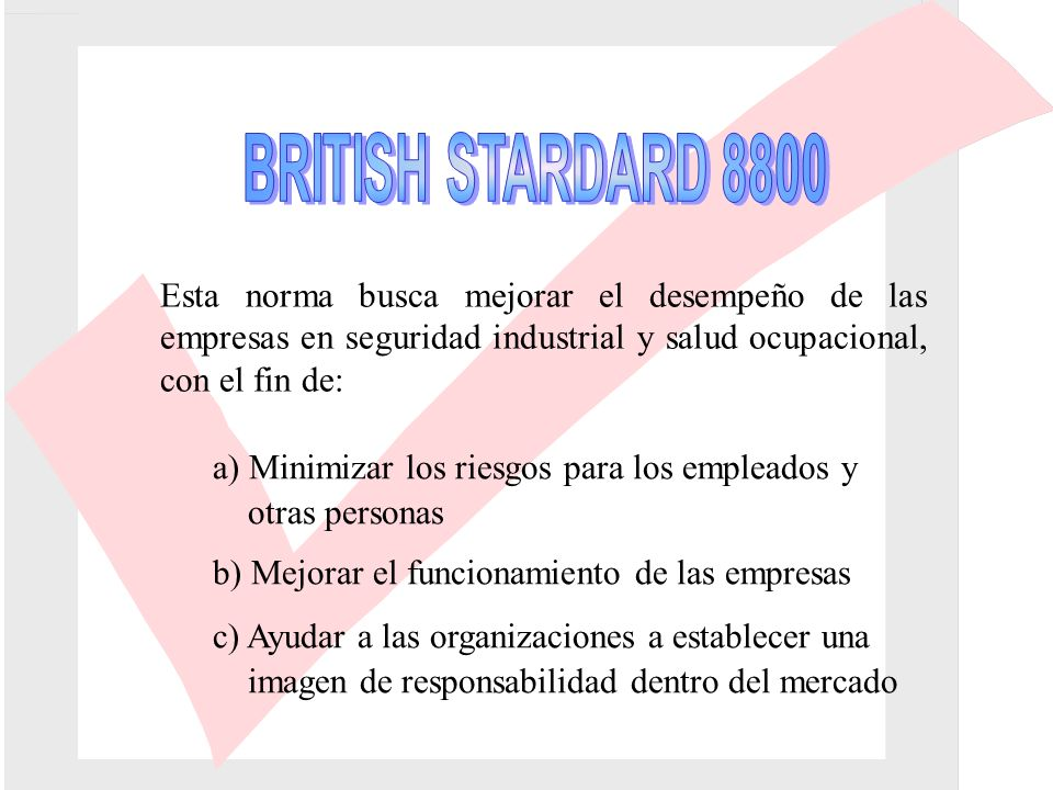 MEDICION DEL DESEMPEÑO E.4PRINCIPIO DE LA MEDICIÓN DEL DESEMPEÑO E.4.1INTRODUCCIÓN E.4.2INDICADORES DIRECTOS DEL DESEMPEÑO EN SEGURIDAD INDUSTRIAL Y SALUD OCUPACIONAL E.4.3PRECAUCIONES EN EL USO DE DATOS SOBRE ACCIDENTES Y ENFERMEDAD COMO INDICADORES DEL DESEMPEÑO EN SEGURIDAD INDUSTRIAL Y SALUD OCUPACIONAL E.4.4MEDICIONES DE DESEMPEÑO - OBJETIVAS Y SUBJETIVAS; CUANTITATIVAS Y CUALITATIVAS E.5TÉCNICAS DE MEDICIÓN E.6INVESTIGACIÓN DE EVENTOS PELIGROSOS E.6.1PROCEDIMIENTO DE INVESTIGACIÓN E.6.2FUENTES DE INFORMACIÓN E.6.3POSIBLES FALLAS LA SEGURIDAD INDUSTRIAL Y SALUD OCUPACIONAL E.6.4APRENDER DE LOS RESULTADOS DE LAS INVESTIGACIONES Y COMUNICARLOS
