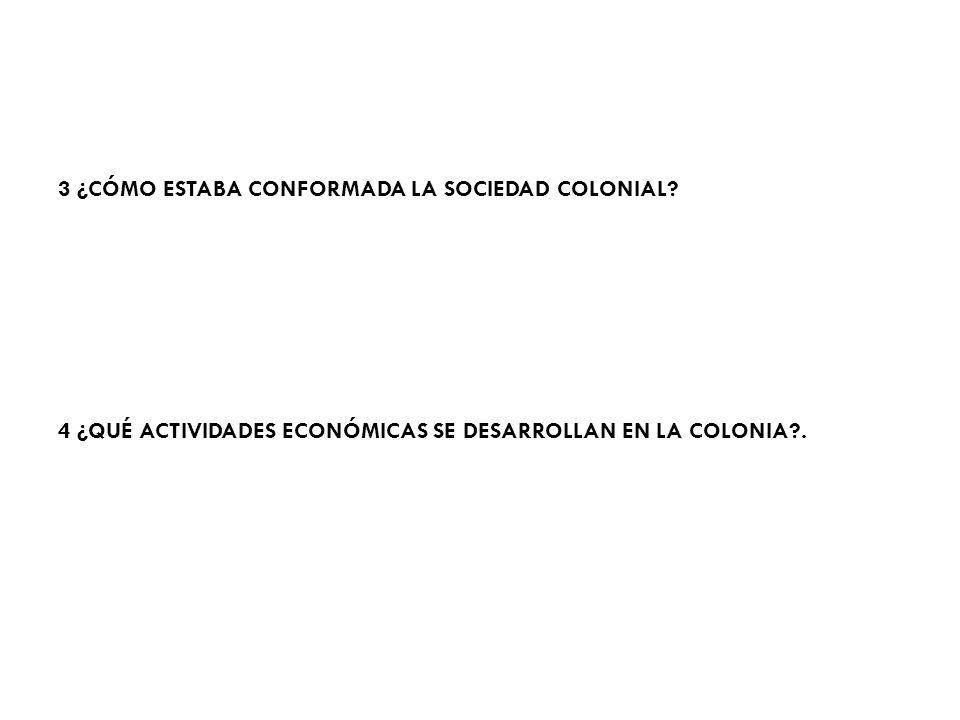 3 ¿CÓMO ESTABA CONFORMADA LA SOCIEDAD COLONIAL.
