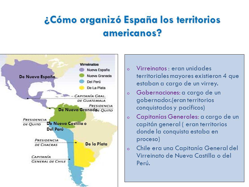 ¿Cómo organizó España los territorios americanos.