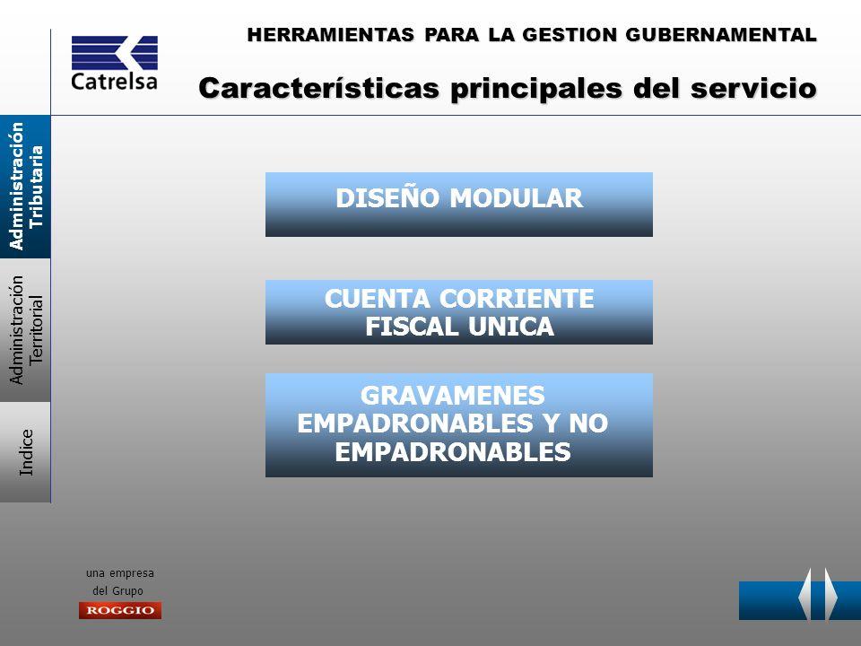 HERRAMIENTAS PARA LA GESTION GUBERNAMENTAL una empresa del Grupo DISEÑO MODULAR CUENTA CORRIENTE FISCAL UNICA GRAVAMENES EMPADRONABLES Y NO EMPADRONAB