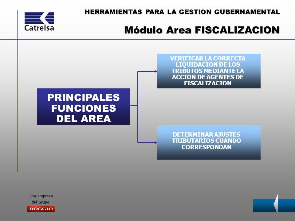 HERRAMIENTAS PARA LA GESTION GUBERNAMENTAL una empresa del Grupo PRINCIPALES FUNCIONES DEL AREA VERIFICAR LA CORRECTA LIQUIDACION DE LOS TRIBUTOS MEDI