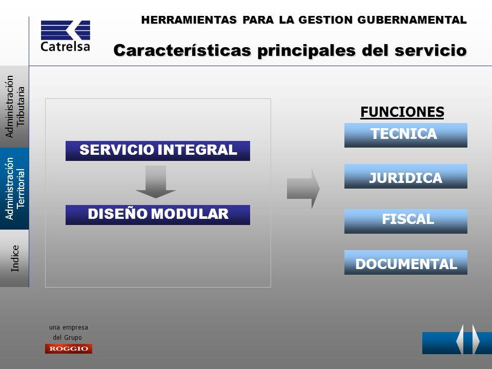 HERRAMIENTAS PARA LA GESTION GUBERNAMENTAL una empresa del Grupo SERVICIO INTEGRAL DISEÑO MODULAR TECNICA JURIDICA FISCAL DOCUMENTAL FUNCIONES Adminis