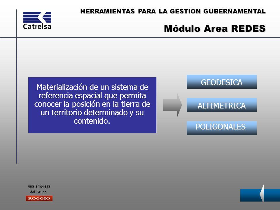 HERRAMIENTAS PARA LA GESTION GUBERNAMENTAL una empresa del Grupo GEODESICAALTIMETRICA POLIGONALES Materialización de un sistema de referencia espacial