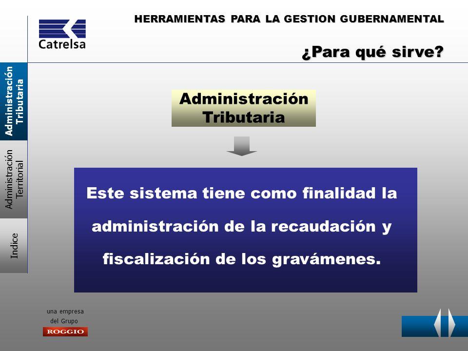 HERRAMIENTAS PARA LA GESTION GUBERNAMENTAL una empresa del Grupo Este sistema tiene como finalidad la administración de la recaudación y fiscalización