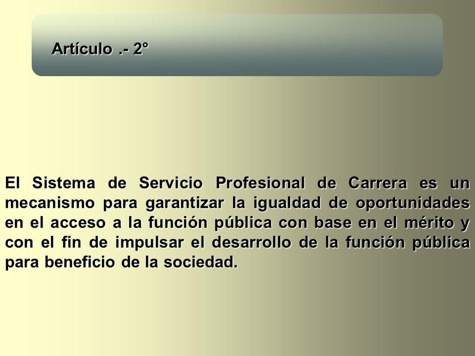 El Sistema de Servicio Profesional de Carrera es un mecanismo para garantizar la igualdad de oportunidades en el acceso a la función pública con base