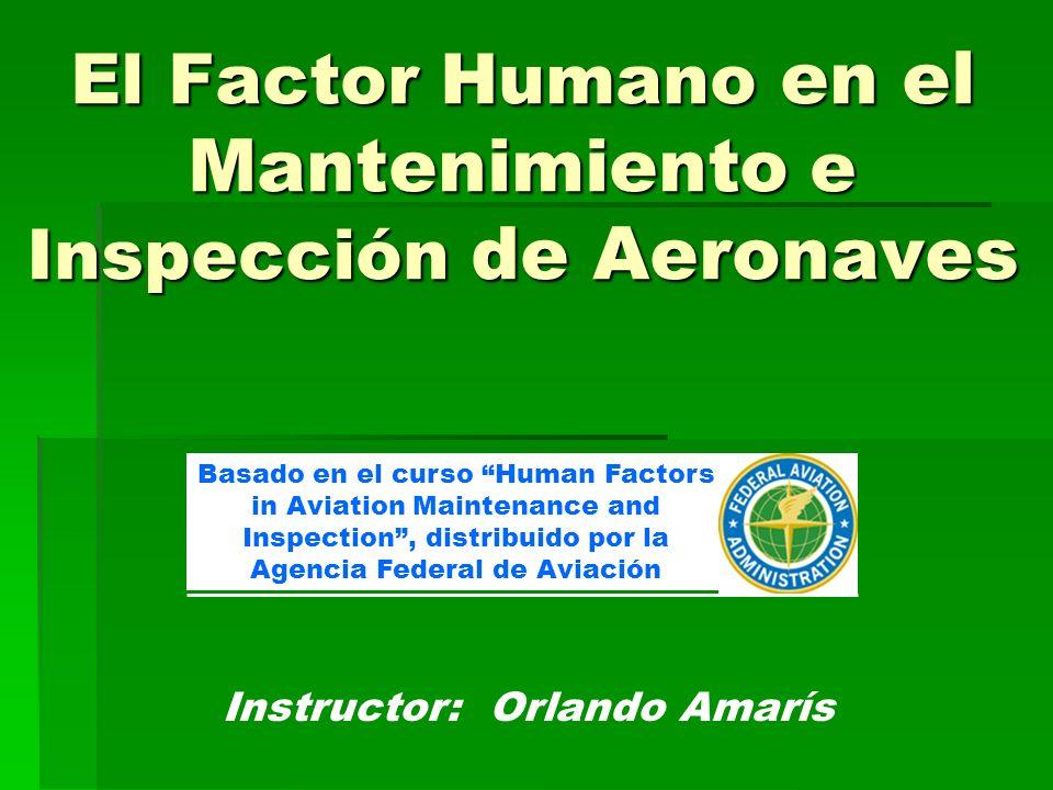 Contenido del curso 1 – Seguridad en el transporte aéreo 2 – Error humano en el mantenimiento aéreo 3 – Fundamentos básicos de factor humano 4 – Seguridad del técnico de aviación 5 – Comunicación 6 – Trabajo en equipo 7 – Conciencia Situacional 8 – Administración del desempeño