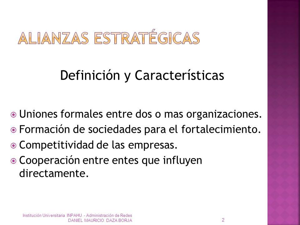 Uniones formales entre dos o mas organizaciones.Formación de sociedades para el fortalecimiento.