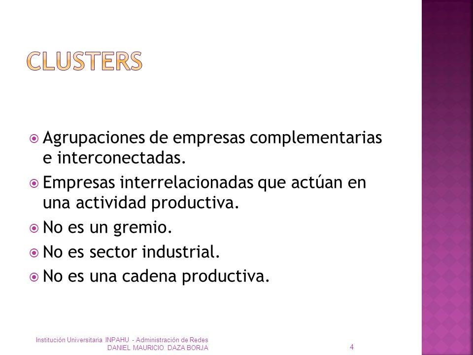 Agrupaciones de empresas complementarias e interconectadas.