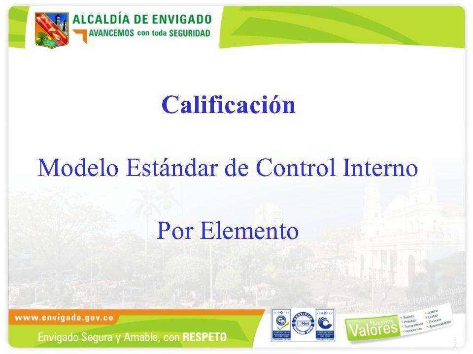 Calificación Modelo Estándar de Control Interno Por Elemento