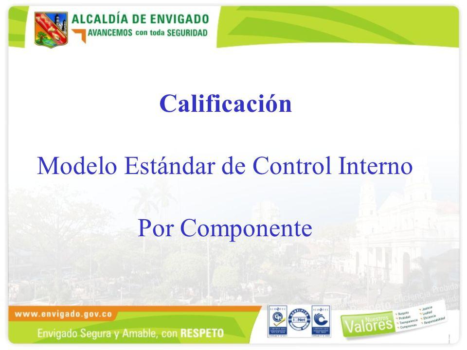 Calificación Modelo Estándar de Control Interno Por Componente