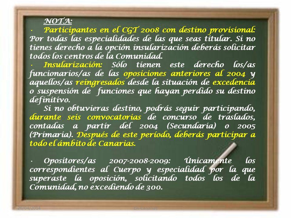 2. De forma Obligatoria: Funcionarios/as sin destino definitivo.