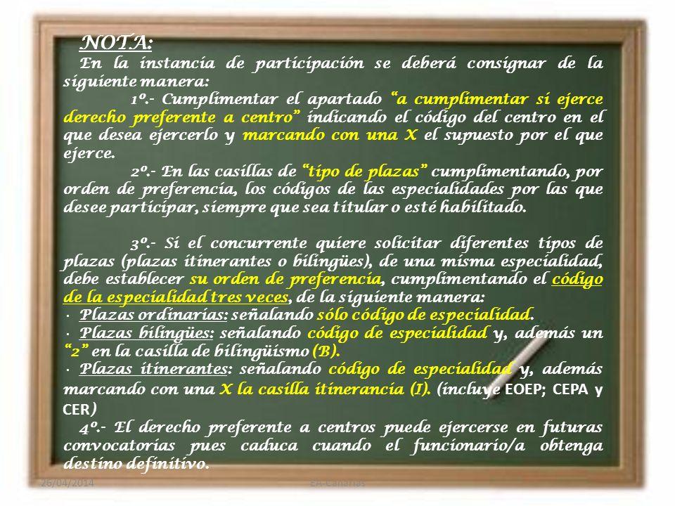 Derecho Preferente A CENTRO y prelación 1.Funcionarios/as suprimidos/as.