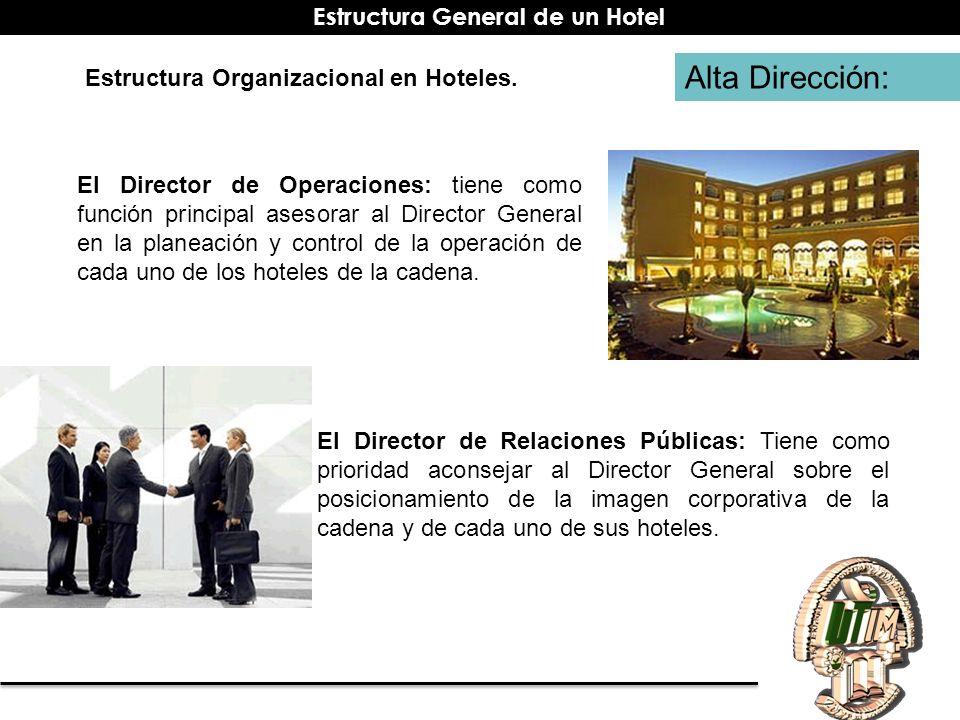 Alta Dirección: El Director de Operaciones: tiene como función principal asesorar al Director General en la planeación y control de la operación de ca
