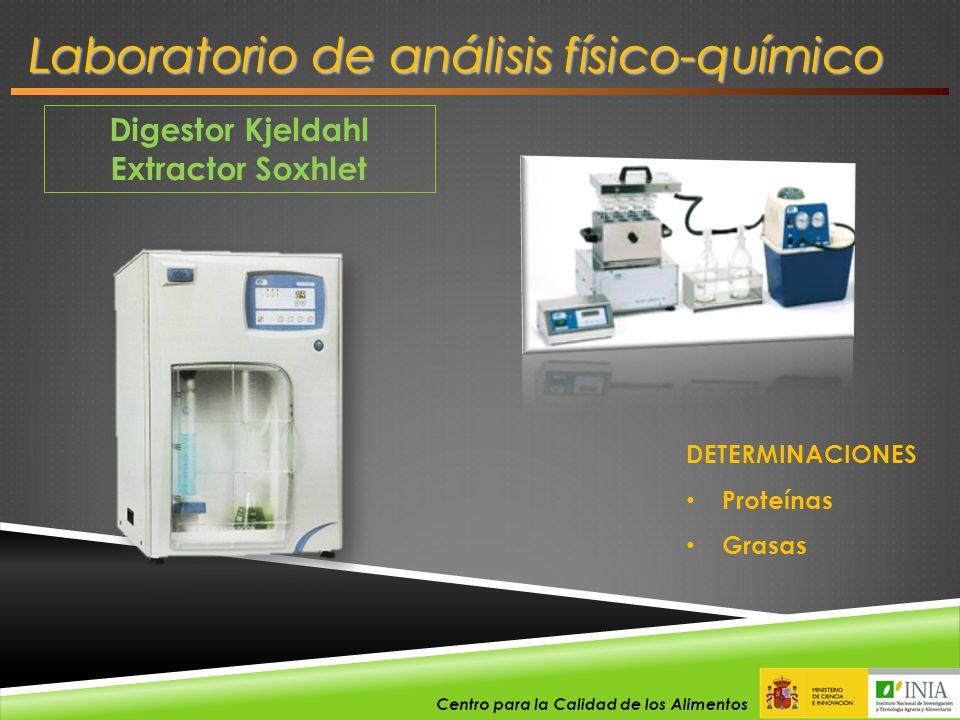 Digestor Kjeldahl Extractor Soxhlet DETERMINACIONES Proteínas Grasas Laboratorio de análisis físico-químico
