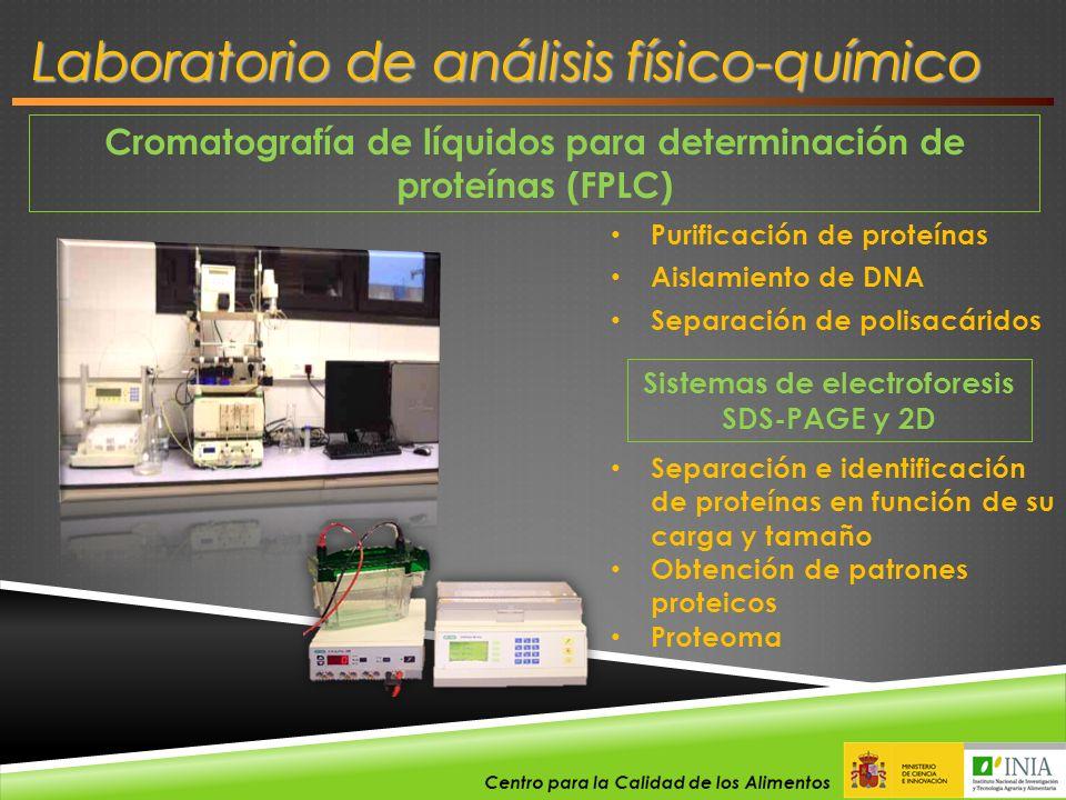 Cromatografía de líquidos para determinación de proteínas (FPLC) Purificación de proteínas Aislamiento de DNA Separación de polisacáridos Sistemas de