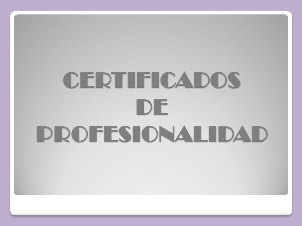 Es una acreditación oficial (documento) que certifica que la persona que lo posee tiene los conocimientos y las habilidades para desarrollar una actividad laboral determinada, es decir, está cualificada para ocupar un puesto laboral concreto Cada certificado de profesionalidad acredita una cualificación del Catálogo Nacional de Cualificaciones Profesionales.