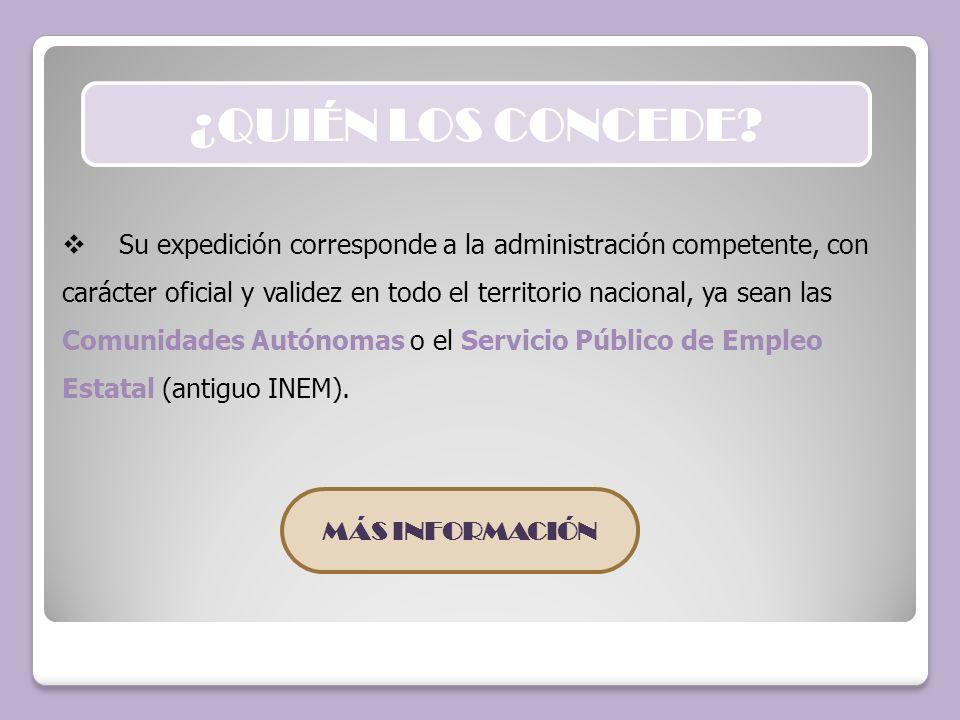 Los certificados de profesionalidad son expedidos por el SERVICIO ANDALUZ DE EMPLEO, en los siguientes supuestos: - A aquellas personas que participen en cursos de Formación Profesional para el Empleo impartidos en el ámbito de gestión del Servicio Andaluz de Empleo.
