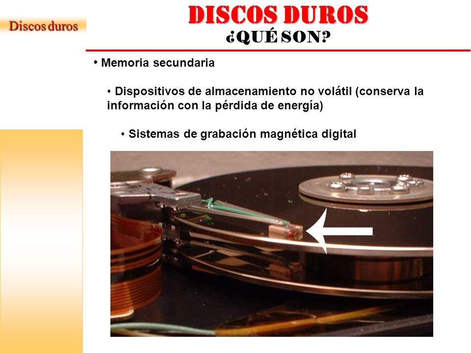 DISCOS DUROS LA ESTRUCTURA BASICA Disco Duro vista Externa Disco Duro vista Interna Discos duros