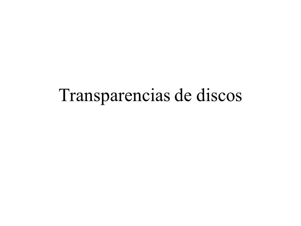 Transparencias de discos