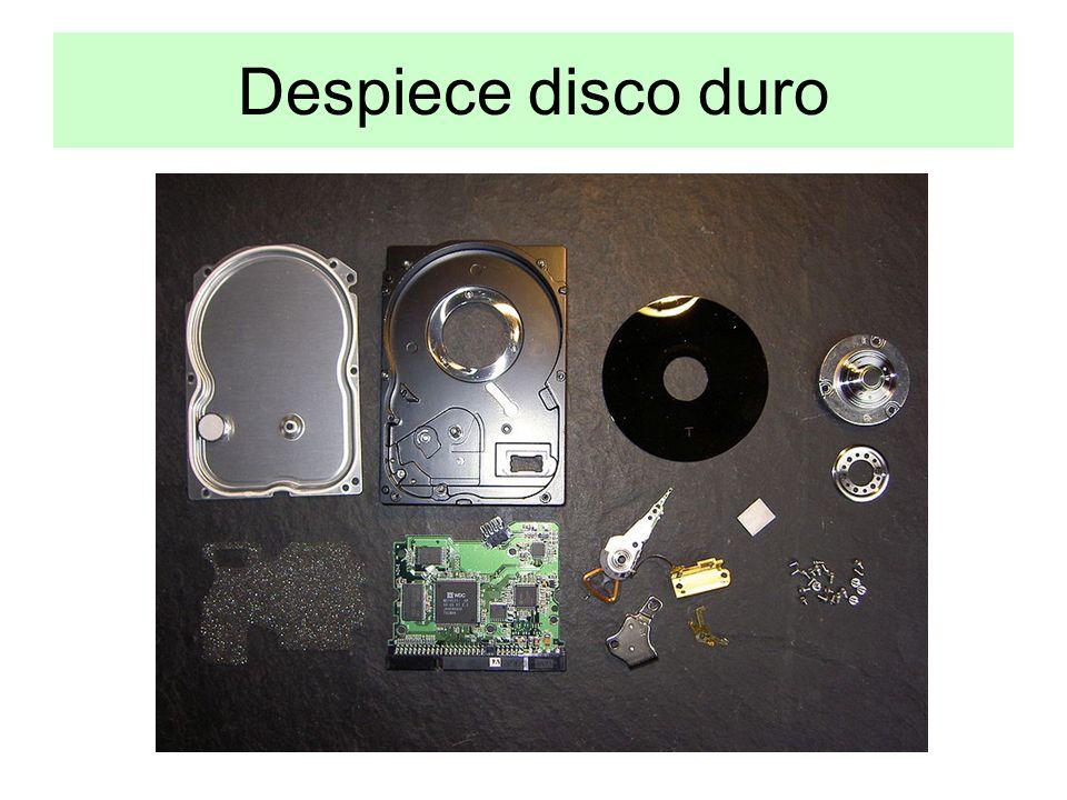 Formato del disco Un disco consta de un soporte que permite guardar información mediante la orientación del campo magnético en su superficie o alguna propiedad óptica de dos estados (uno positivo y otro negativo).