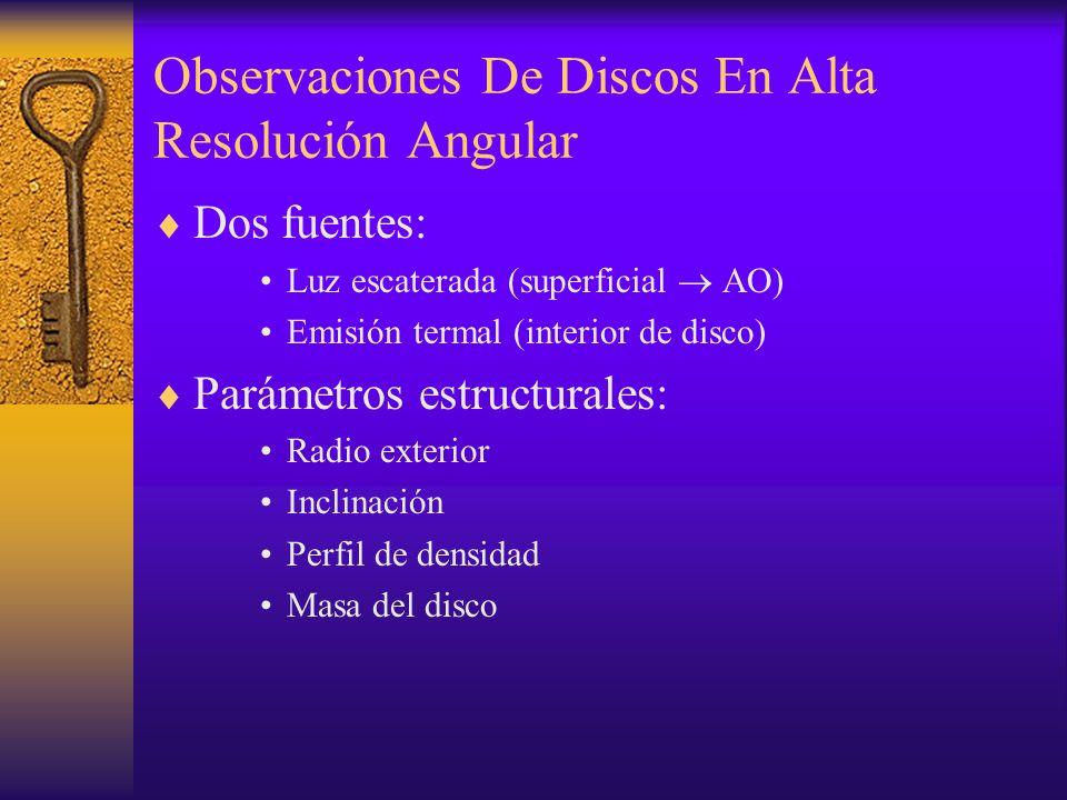 ¿Cómo Influye AO En Detección De Discos Protoplanetarios.