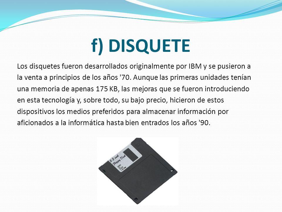 e) TARJETA PERFORADA Las tarjetas perforadas son básicamente unas cartulinas que contienen información digital representada por la presencia o ausenci