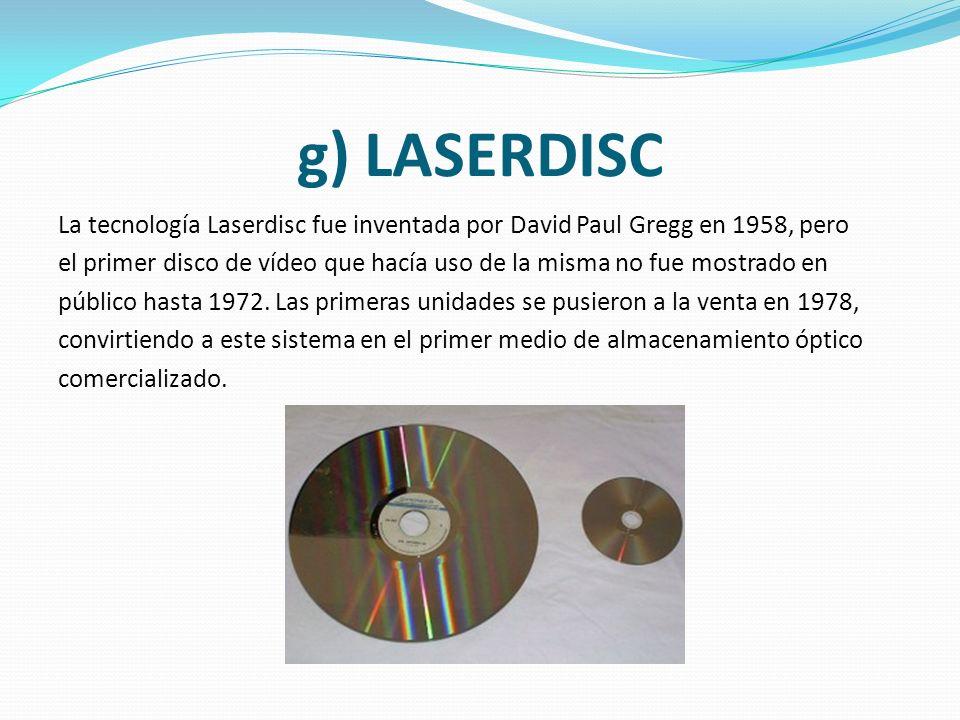 f) DISQUETE Los disquetes fueron desarrollados originalmente por IBM y se pusieron a la venta a principios de los años '70. Aunque las primeras unidad