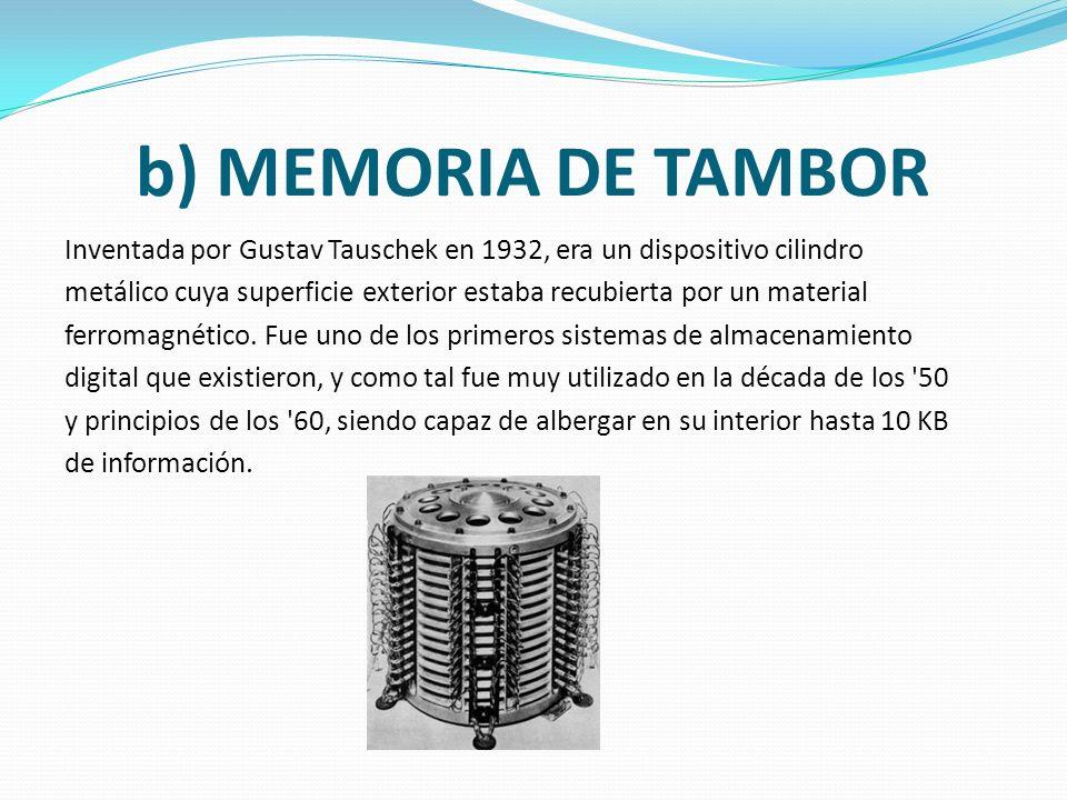 a) SELECTRÓN Un selectrón era una válvula termoiónica capaz de actuar como memoria de acceso directo (RAM) que fue diseñada por RCA en 1946 pero que n