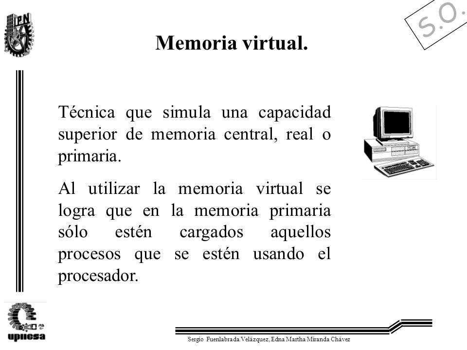 S.O. Sergio Fuenlabrada Velázquez, Edna Martha Miranda Chávez Memoria virtual. Técnica que simula una capacidad superior de memoria central, real o pr