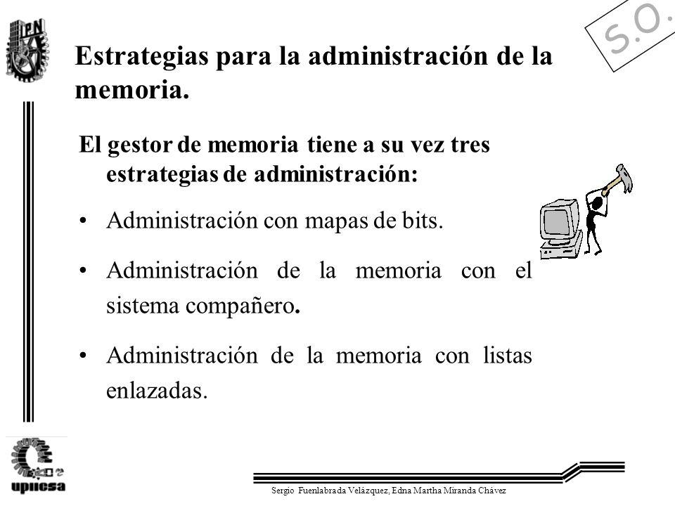 S.O. Sergio Fuenlabrada Velázquez, Edna Martha Miranda Chávez Estrategias para la administración de la memoria. El gestor de memoria tiene a su vez tr