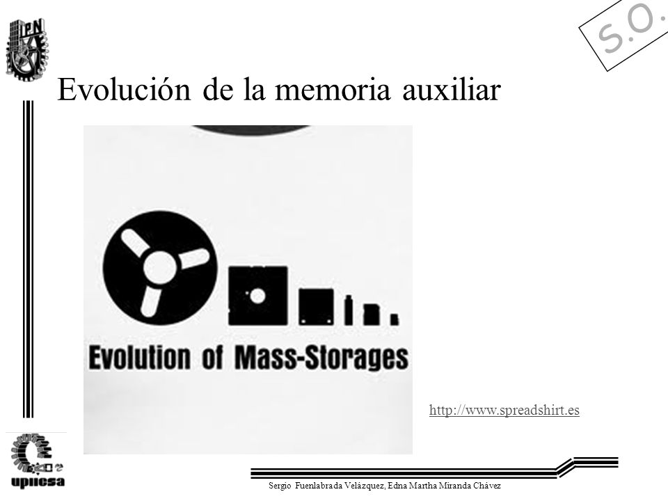 S.O. Sergio Fuenlabrada Velázquez, Edna Martha Miranda Chávez Evolución de la memoria auxiliar http://www.spreadshirt.es