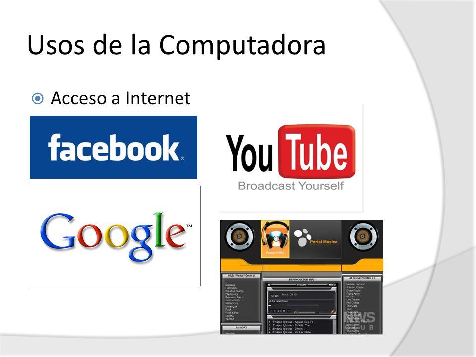 Usos de la Computadora Acceso a Internet