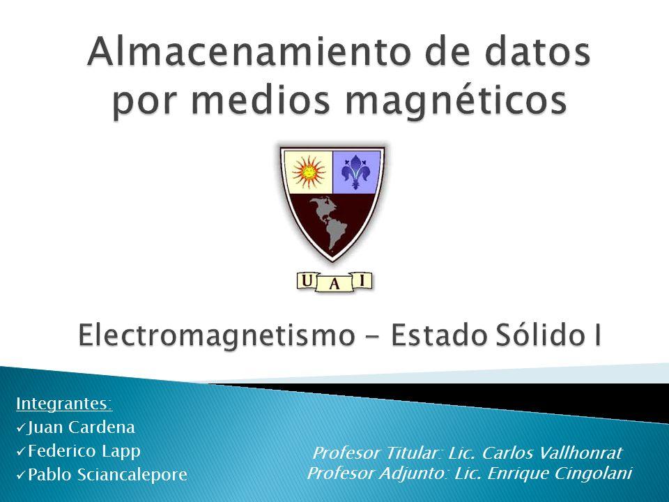 Integrantes: Juan Cardena Federico Lapp Pablo Sciancalepore Profesor Titular: Lic.