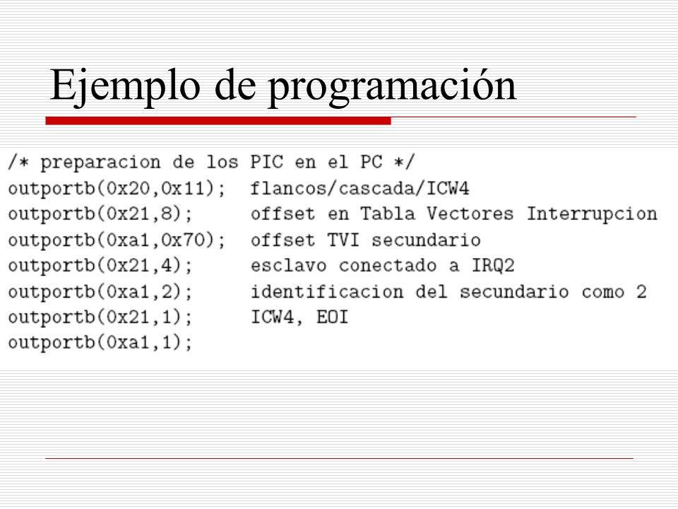 Ejemplo de programación