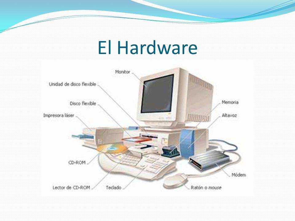 Partes de una Computadora Una computadora esta formada dos partes básicas, estas son: el hardware y el software. El hardware es el término genérico qu