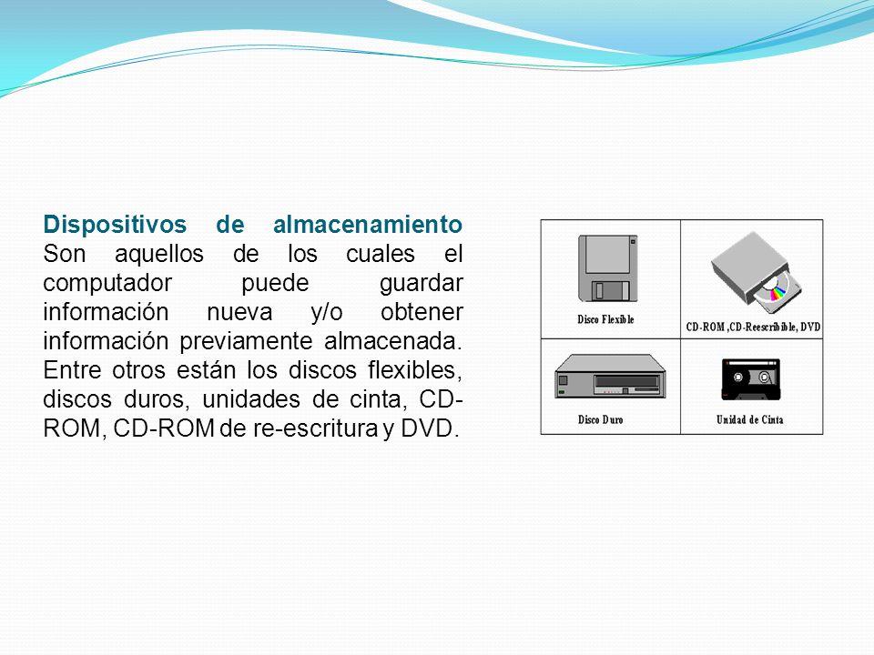 Dispositivos de entrada Son aquellos que permiten el ingreso de datos a un computador. Entre estos se cuentan, los teclados, ratones, scaners, micrófo
