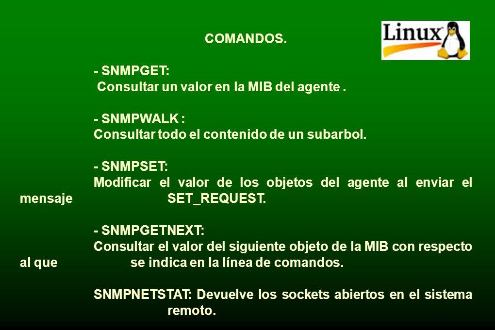 VERSIONES DE SNMP SOPORTADAS. *SNMPv1. *Community-based SNMPv2 (denominada SNMPv2c). *SNMPv3