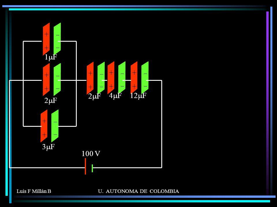 Luis F Millán BU. AUTONOMA DE COLOMBIA ++++ 2 F ++++ 1 F ++++ 3 F ++++ 2 F ++++ 4 F ++++ 12 F 100 V