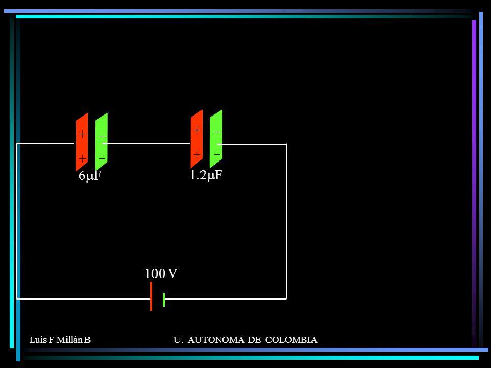 Luis F Millán BU. AUTONOMA DE COLOMBIA ++++ 6 F ++++ 1.2 F 100 V
