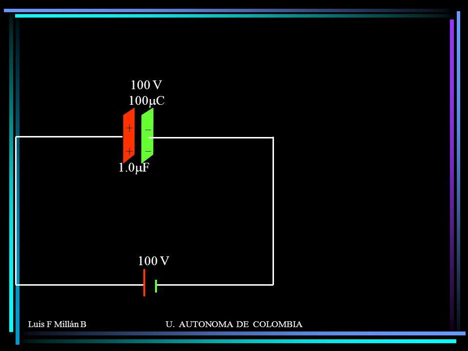 Luis F Millán BU. AUTONOMA DE COLOMBIA ++++ 1.0 F 100 V 100 V 100 C